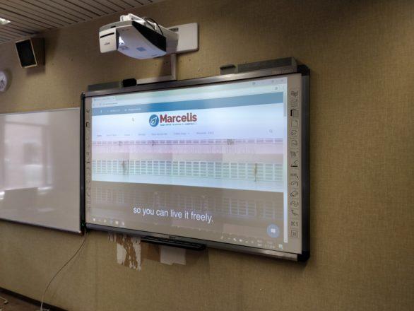 Heilig hart en college Halle Marcelis Newline interactief bord vivitek 2018 2