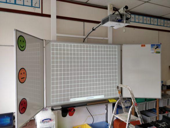 Huizingen vivitek short throw projector 1 legamaster bord Marcelis 3