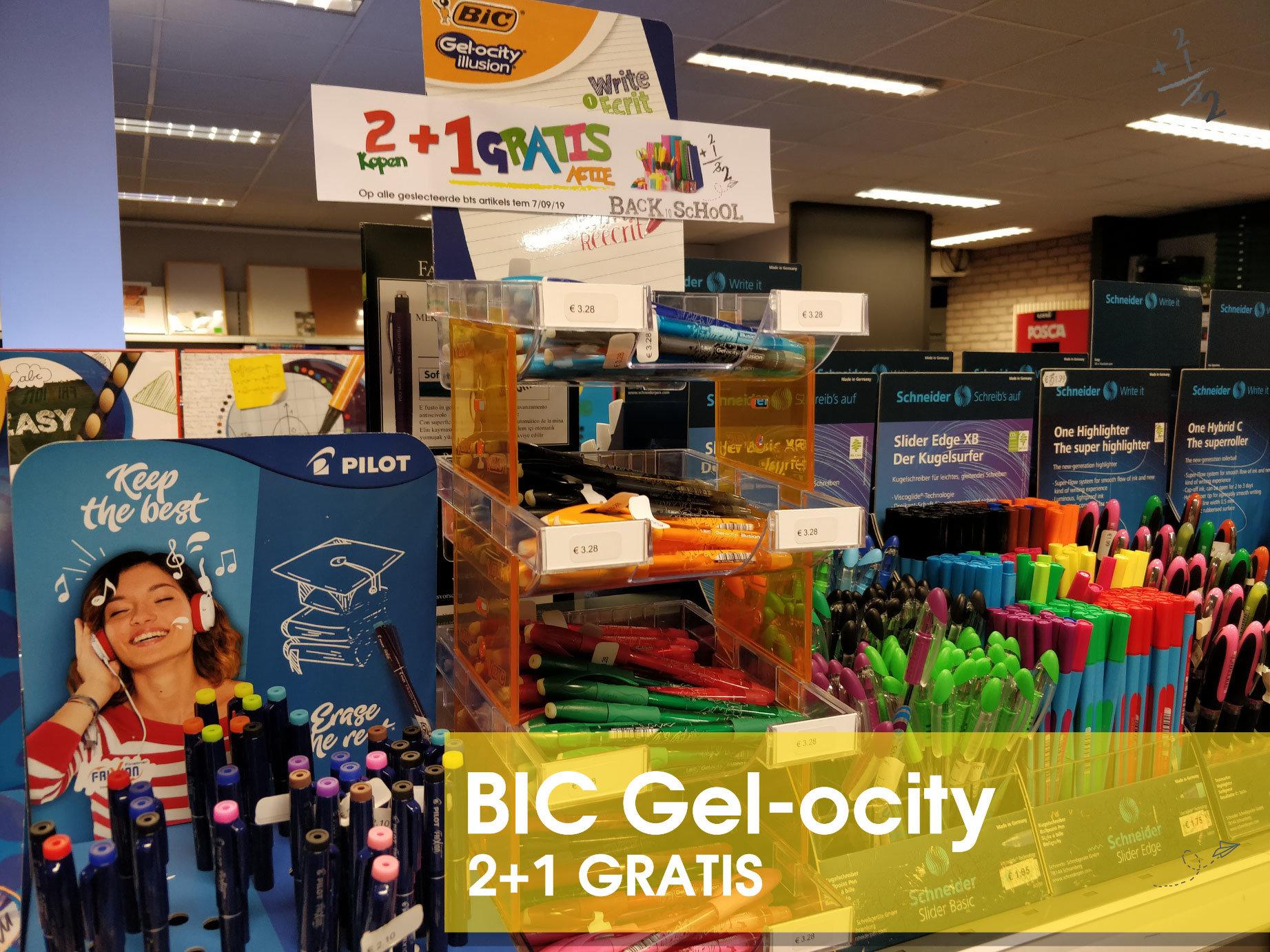 Marcelis-School-materiaal-BIC-gelocity-promo-2+1-gratis-actie