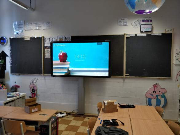 Clevertouch Plus 75 Smartboard educatie Scholengroep brussel Nellie Melba Marcelis School Smart 3 (2)