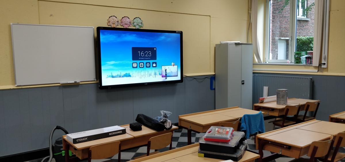 ctouch Laser Sky 75 schoolbord digitaalbord Marcelis Smart Office Halle Sint Victor Dworp
