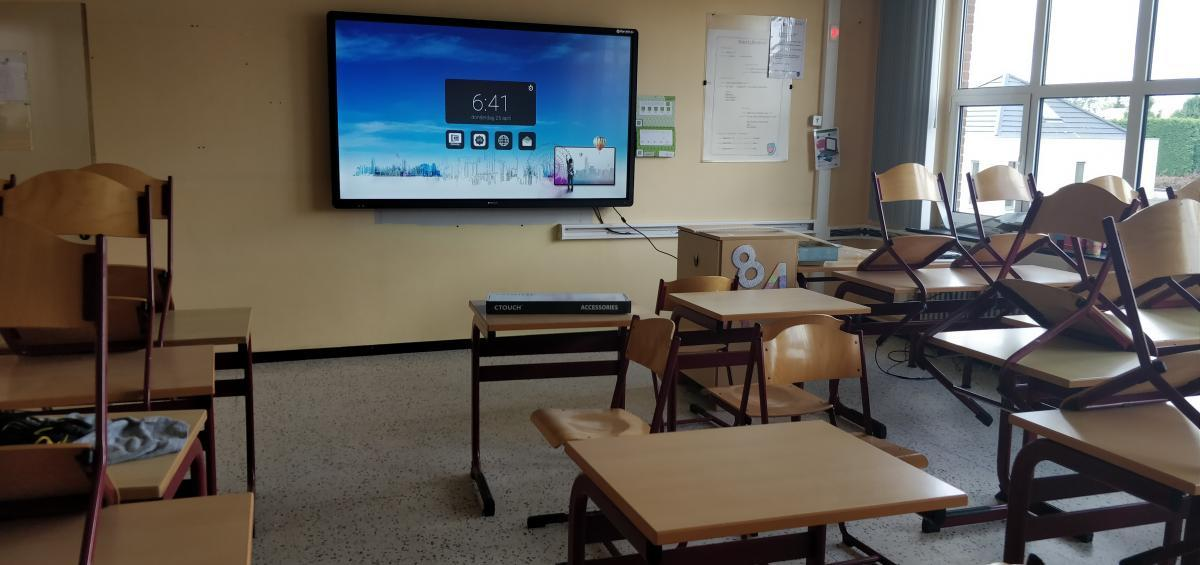 ctouch laser 86 inch smartboard Marcelis Zonhoven Limburg VMS touch