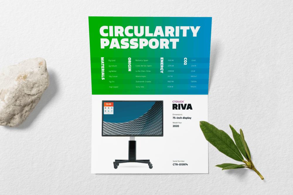 Circularity-Passport-Displayed-Riva-android Triple-S CTOUCH Riva natuurlijk schrijven truebeam digibord kopen bel