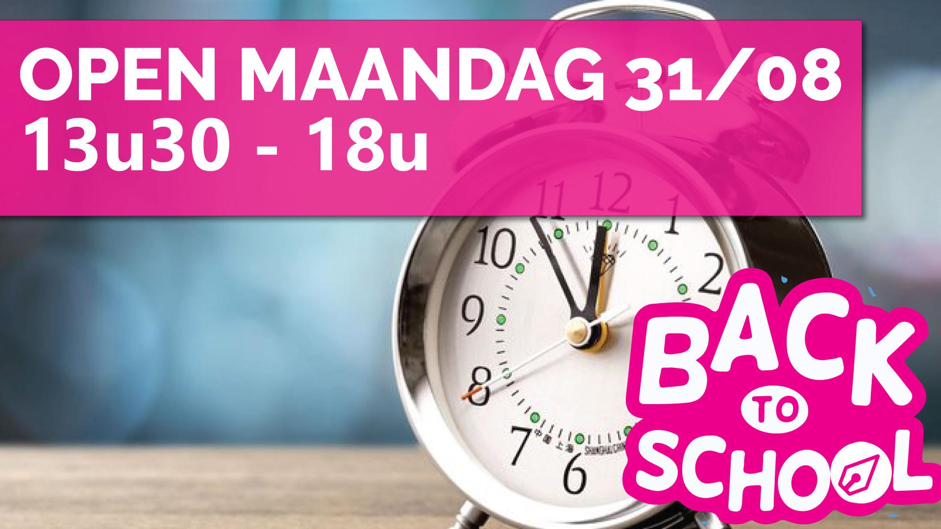 back to school promo actie open maandag 31 augustus marcelis Halle ctouch clevertouch