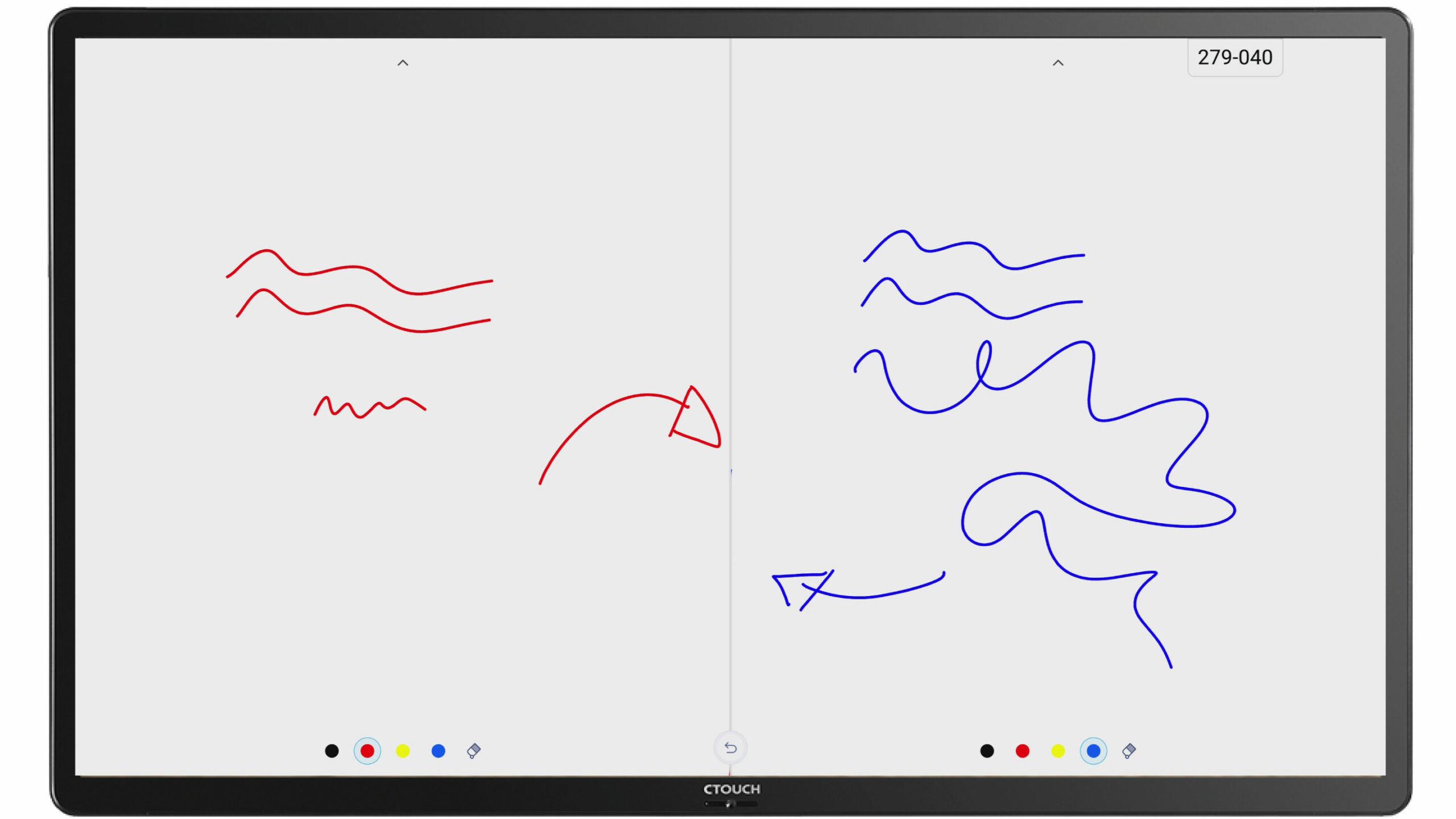 dubbele modus passer geodriehoek meetlat Digitaal whiteboard uboardmate versie 2 ctouch interactief gebruiksvriendelijk educatief school clevertouch