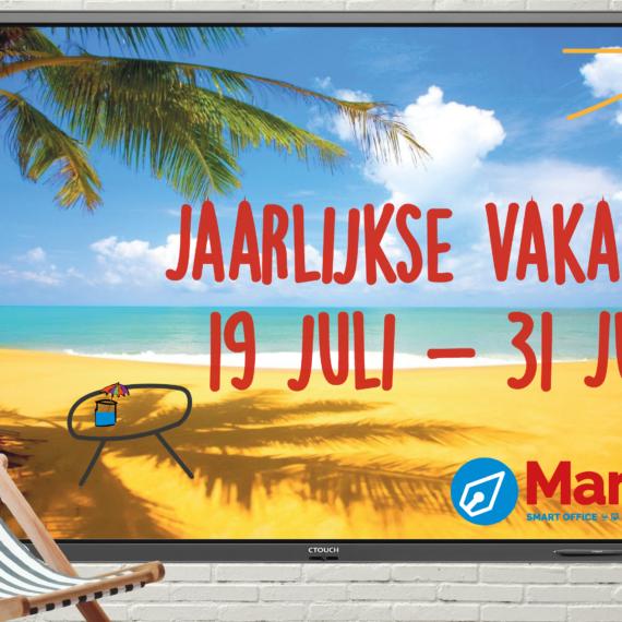 Marcelis smart office verdeler clevertouch gen 2 ctouch vakantie belgie 2021 zomer